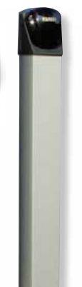 FIT 55 - 555 - Confezione colonnette in alluminio di supporto per fotocellule, da metri 0,50