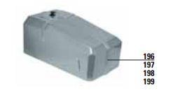 MEC 200 Motoriduttore - 196 - Apricancello scorrevole elettromeccanico per cancelli massimo 1250 kg, con motoriduttore trifase orizzontale da 0,5Cv
