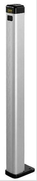 TRIFO 11 - 109 - colonnetta anodizzata per Trifo 11 con coperchio e zoccolo di base per fissaggio a pavimento