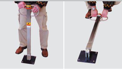 POSTO 20 - 185 - Dissuasore manuale rimovibile, Segnaposto per parcheggi auto