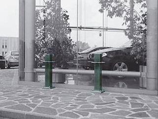SICU 18 - 180 - Colonna quadra 120 x 120 fissa blindata in acciaio inox
