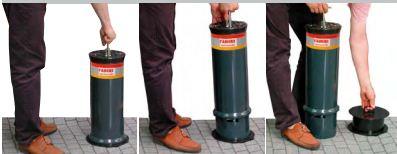 VIMARI 2316 - 2316 - Dissuasore manuale Vimari colonna diametro 200mm asportabile