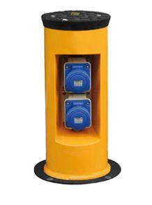 GASPO 252 - 2527 - Dissuasore a spinta manuale con colonna a scomparsa per utenze di servizio come prese elettriche