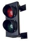 SEMAFORO DUE LUCI - 3203 Semaforo a 2 luci, Rossa e Verde, completo di attacchi