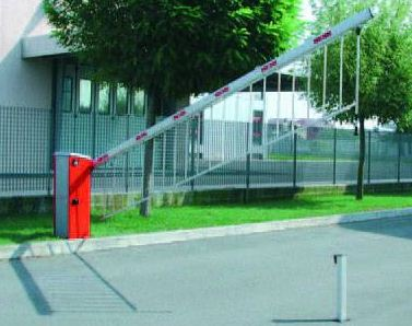 "BAYT 980 - 9801 - Barriera oleodinamica per passaggi stradali 3 secondi, senza asta, regolata lunghezza ""asta 3,20 metri"""