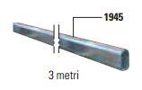 BAYT 980 - 1942 - Asta in alluminio R532 di metri 6,40 con adesivi catarifrangenti rossi e morsetto di giunzione