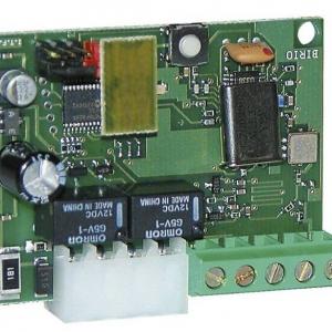 JUBI 433 - 4332 - Scheda ad innesto Radio ricevente Jubi 433/2 R con risuonatore, con modulo relè per il 1° e 2° canale