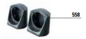 FIT 55 - 558 - coppia supporti fotocellule FIT 55 per colonnetta o applicazione laterale a muro