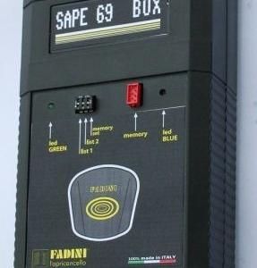 SAPE 69 BOX - 697 - Strumento completo di Ricevitore e Lettore per la gestione impianti complessi