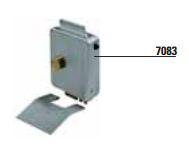 ELETTROSERRATURE - 7098 - Elettroserratura V96 VIRO a catenaccio rotante Verticale, tipo piccola, per cancello ad anta