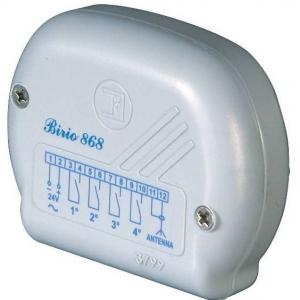 BIRIO 868 - 8610 - Radio ricevente da esterno Birio 868/1 R con risuonatore, con modulo relè per il 1° canale
