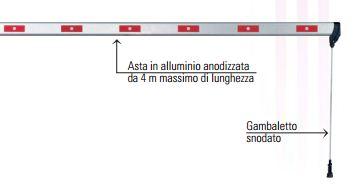 BARRI 88 - 1095 - Asta alluminio 30x80 lunghezza metri 4,0 completa di 12 adesivi